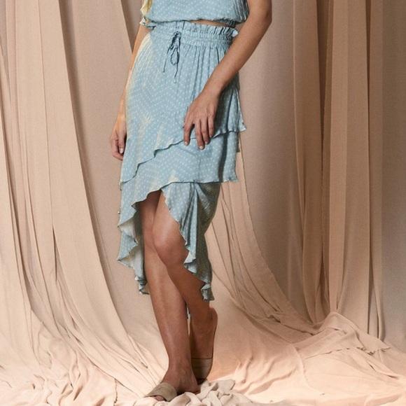 The Jetset Diaries Dresses & Skirts - The Jetset Diaries Mohea Midi Skirt Blue Polka Dot